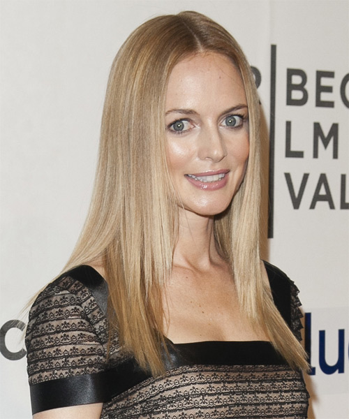 Heather Graham Long Straight Hairstyle - Medium Blonde (Ash) - side view