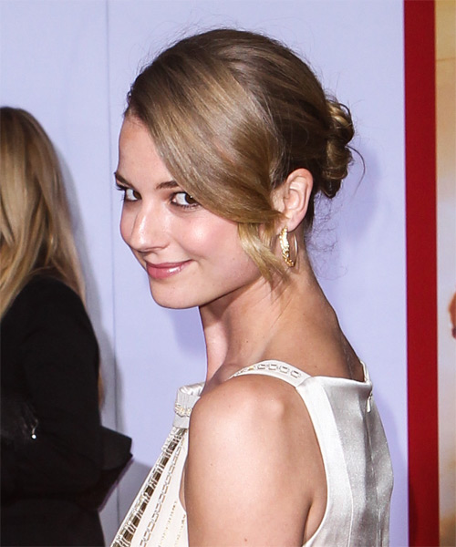 Emily VanCamp Updo Long Straight Formal Wedding- side view