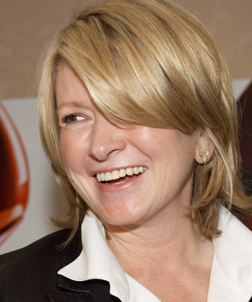 Martha Stewart - Casual Medium Straight Hairstyle - side view