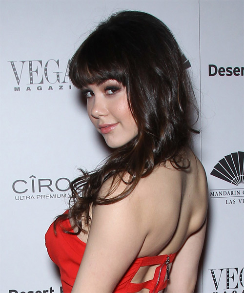 Claire Sinclair Long Straight Hairstyle - Dark Brunette - side view