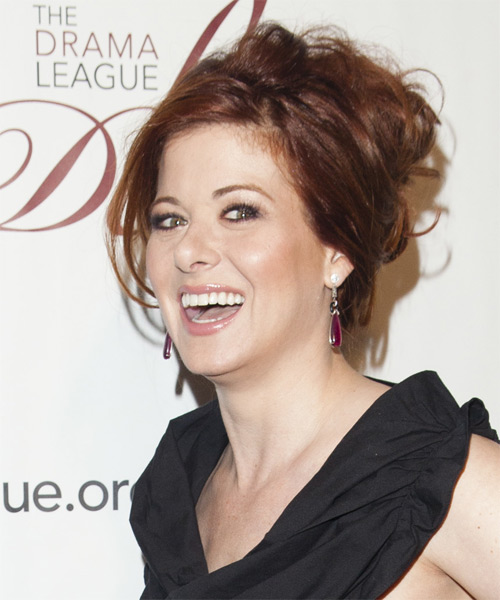 Debra Messing Straight Casual Updo Hairstyle - side view