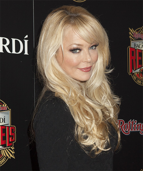 Charlotte Ross Long Straight Hairstyle - side view