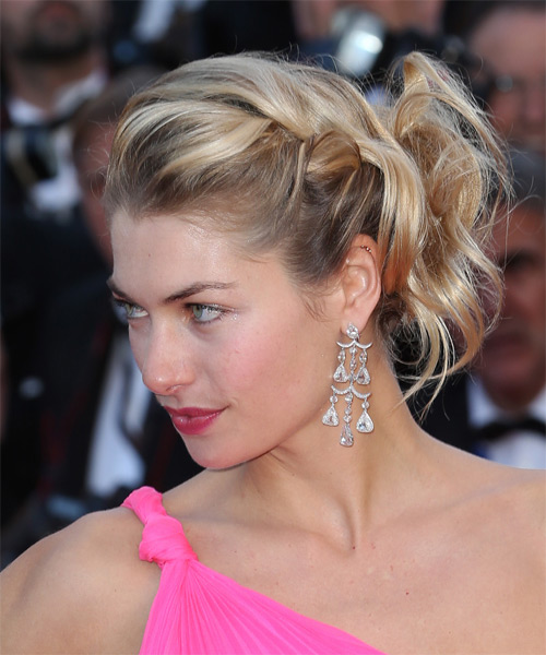 Jessica Hart Updo Long Curly Formal  - side view