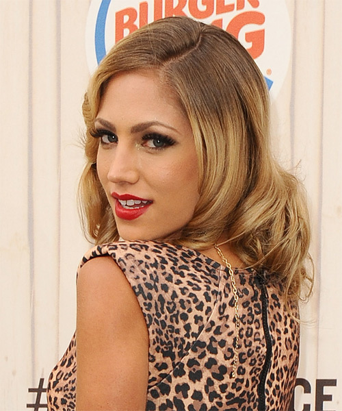 Jade Bryce Medium Wavy Formal Hairstyle - Medium Blonde (Golden) Hair Color - side view