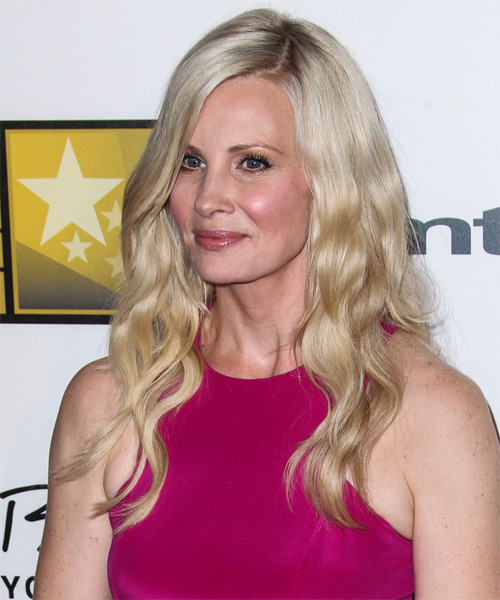 Monica Potter Long Wavy Hairstyle - Light Blonde - side view 1