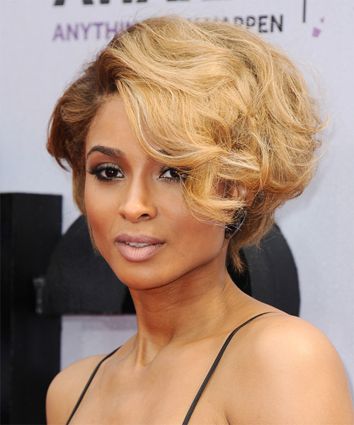 Ciara Short Wavy Hairstyle - side view
