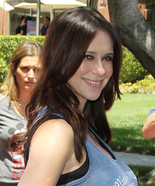 Jennifer Love Hewitt Long Straight Hairstyle - side view