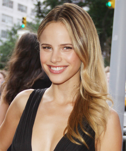 Halston Sage Long Straight Formal Hairstyle - side view