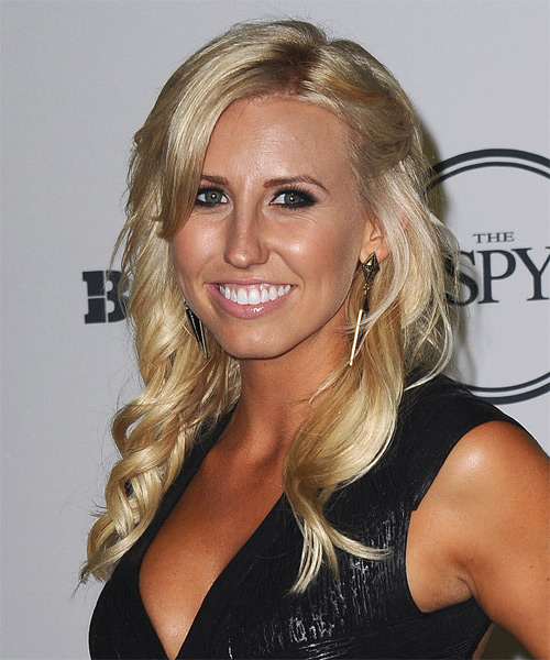 Courtney Force Long Wavy Casual Hairstyle - side view