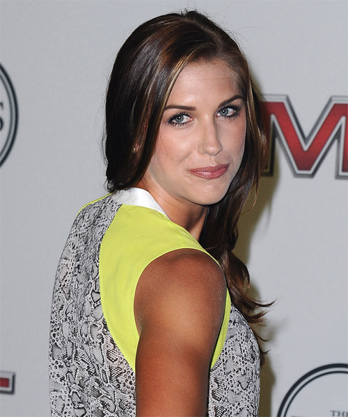 Alex Morgan Long Straight Hairstyle - side view