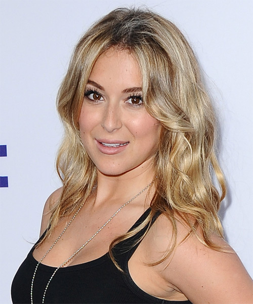 Alexa Vega Long Wavy Casual Hairstyle - side view