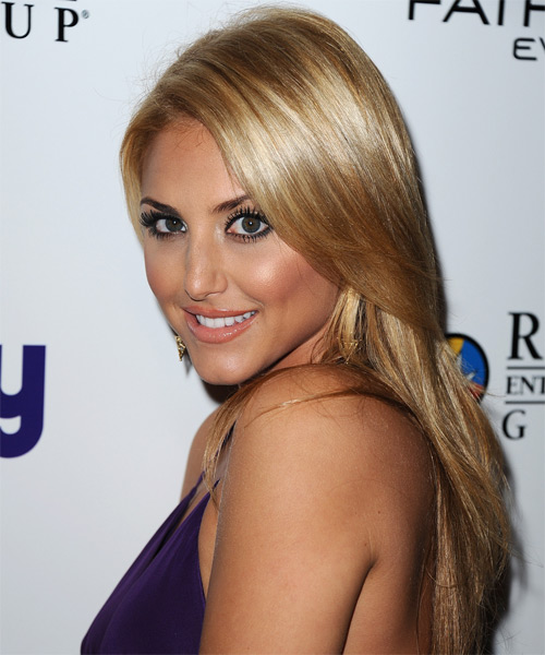 Cassie Scerbo Long Straight Hairstyle - side view 1