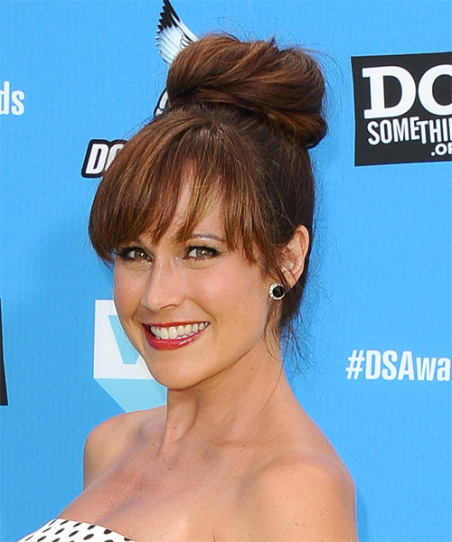 Nikki DeLoach Formal Straight Updo Hairstyle - side view 1