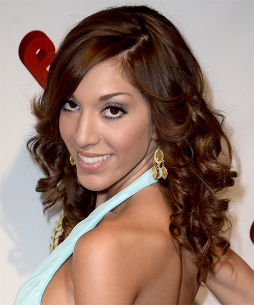 Farrah Abraham Long Curly Hairstyle - side view