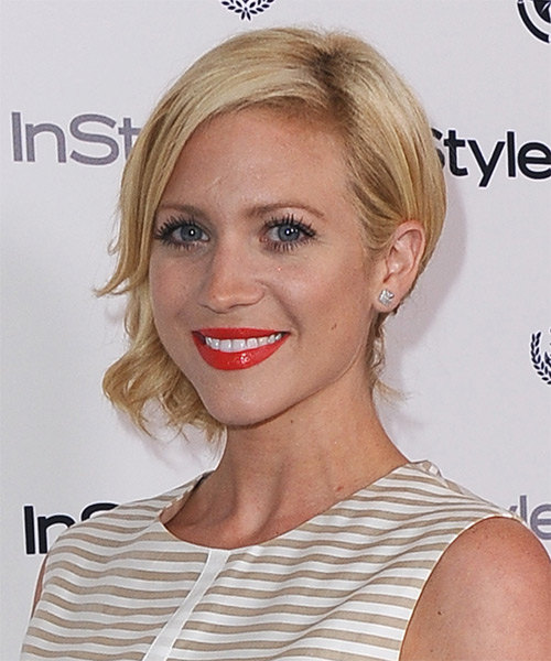 Brittany Snow Updo Medium Curly Formal  - side view