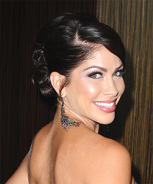 Valerie Ortiz Updo Long Straight Formal - side view