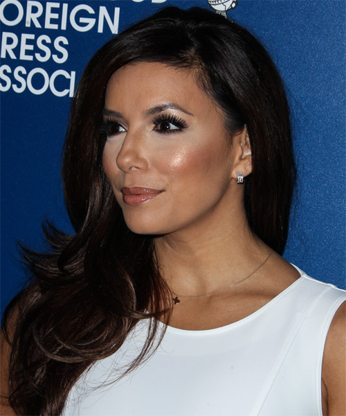 Eva Longoria Long Straight Hairstyle - side view 1