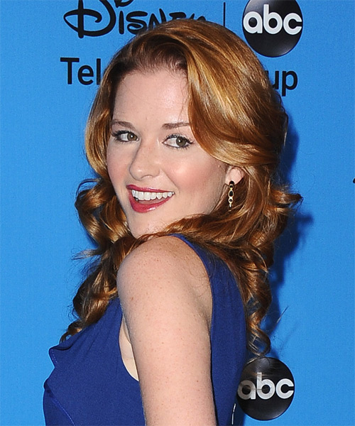 Sarah Drew Long Wavy Hairstyle - side view