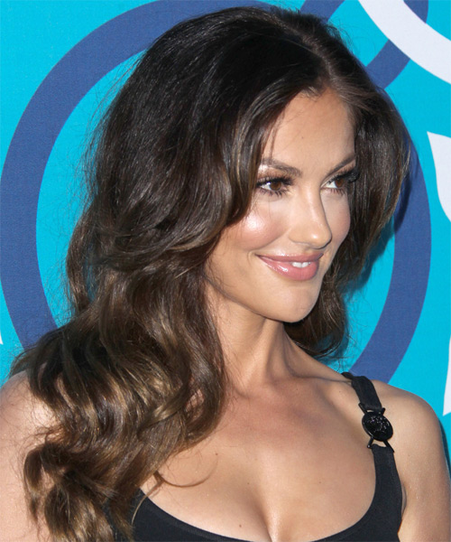 Minka Kelly Long Wavy Hairstyle - side view