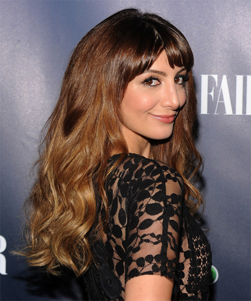 Nasim Pedrad Long Wavy Hairstyle - side view 1