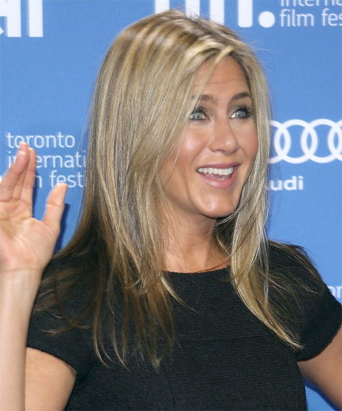 Jennifer Aniston Long Straight Hairstyle - side view
