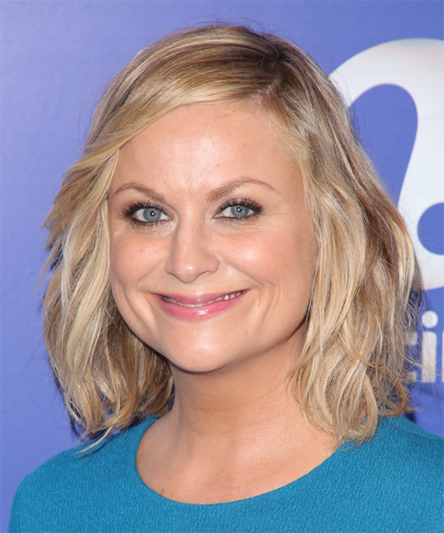 Amy Poehler Medium Straight Hairstyle - side view 1