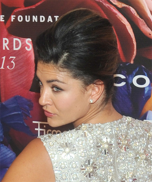 Jessica Szohr Formal Straight Updo Hairstyle - side view 1