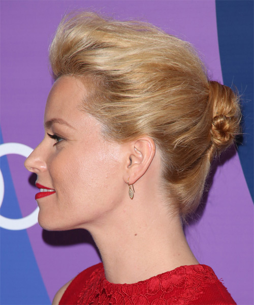 Elizabeth Banks Straight Casual Updo Hairstyle - side view