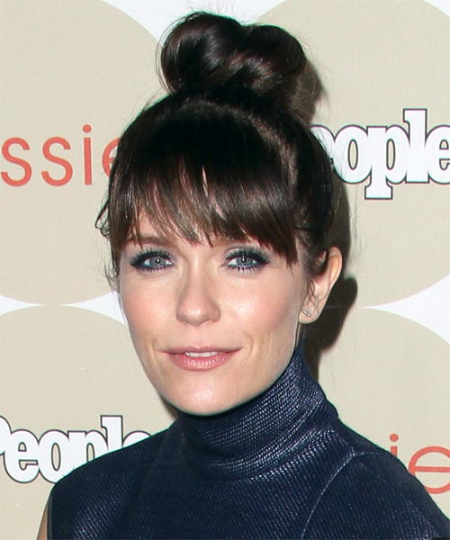 Katie Aselton Casual Straight Updo Hairstyle - side view 1