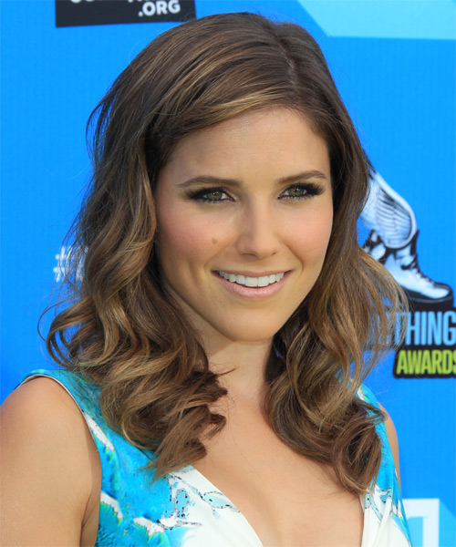 Sophia Bush Medium Wavy Hairstyle - side view 1