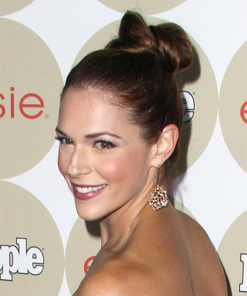 Amanda Righetti Formal Straight Updo Hairstyle - side view