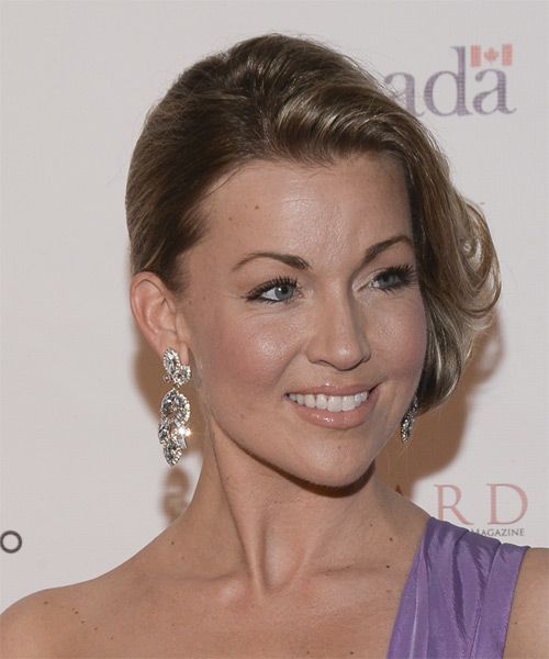 Kelly Dolan Updo Medium Straight Formal Updo Hairstyle - Medium Blonde (Ash) Hair Color - side view