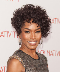 Angela Bassett Short Curly Formal  - side view