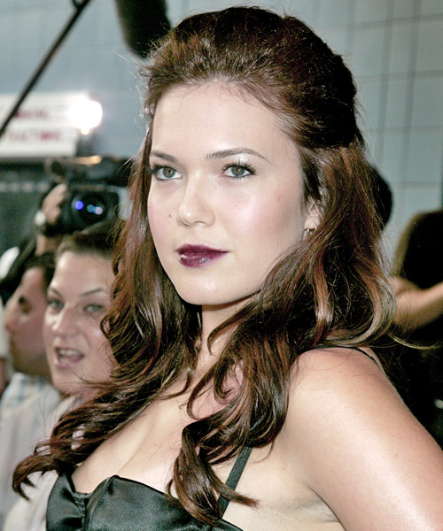 Mandy Moore - Formal Half Up Long Curly Hairstyle - side view