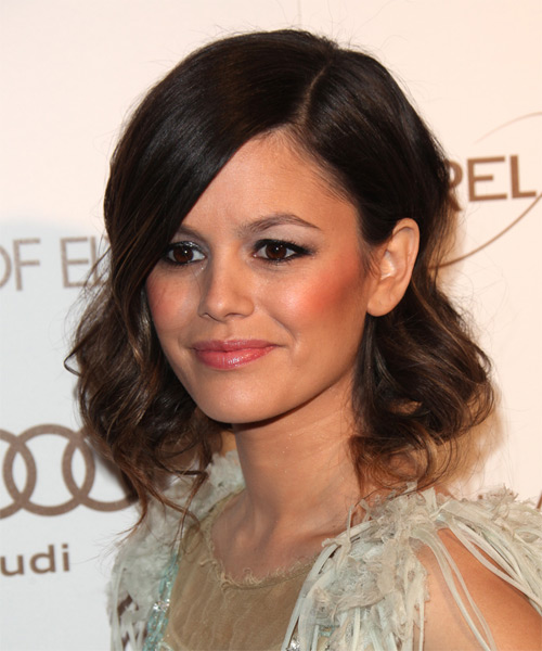 Rachel Bilson Medium Wavy Hairstyle - Dark Brunette - side view 1