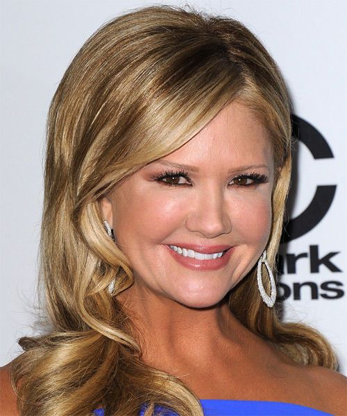 Nancy O Dell Long Wavy Hairstyle - Dark Blonde - side view