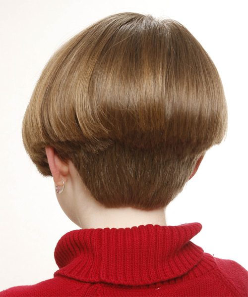 Short Straight Formal Bob Hairstyle - Light Brunette (Caramel) - side view 1