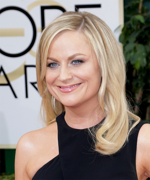 Amy Poehler Long Straight Hairstyle - Medium Blonde - side view
