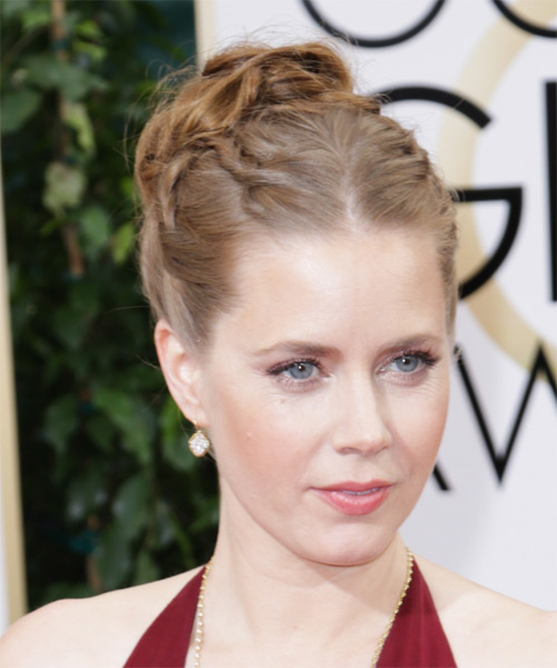 Amy Adams Updo Long Curly Formal Wedding - Light Red (Chestnut) - side view