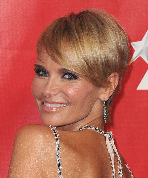 Kristin Chenoweth Short Straight Formal Hairstyle - Medium Blonde Hair Color - side view