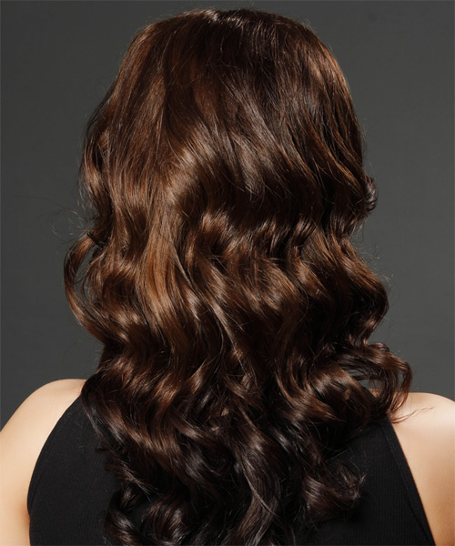 Long Wavy Formal Hairstyle (Chocolate) - side view 1