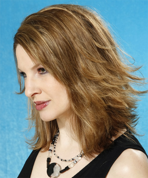 Long Straight Casual Hairstyle - Dark Blonde (Ash) - side view 1