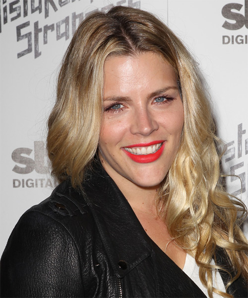 Busy Philipps Long Wavy Hairstyle - Medium Blonde (Golden) - side view
