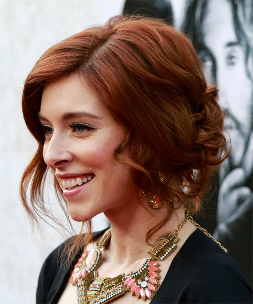 Kate Gorney Updo Hairstyle - Medium Red (Mahogany) - side view 1