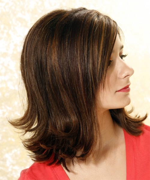Formal Long Straight Hairstyle - side view
