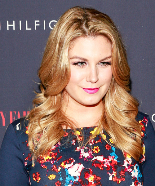 Mallory Hagan Long Straight Hairstyle - Medium Blonde (Golden) - side view