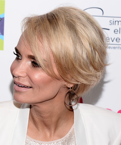Kristin Chenoweth Short Straight Hairstyle - Light Blonde - side view 1
