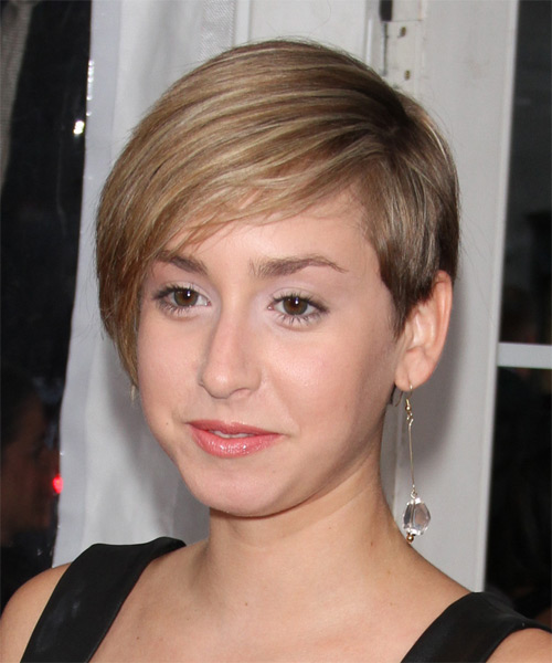 Jazmin Grace Grimaldi Short Straight Formal Hairstyle - Medium Blonde Hair Color - side view