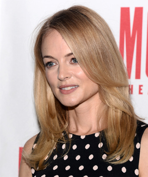 Heather Graham Long Straight Formal Hairstyle - Medium Blonde Hair Color - side view