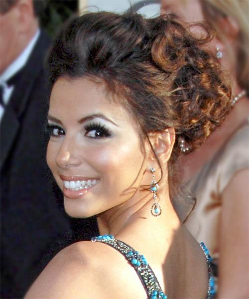 Strange Eva Longoria Parker Updo Curly Formal Hairstyle Thehairstyler Com Short Hairstyles Gunalazisus